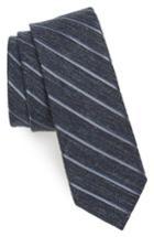 Men's The Tie Bar Pike Stripe Silk Skinny Tie