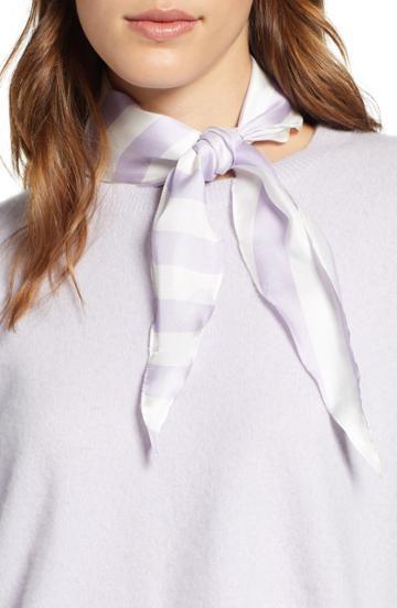 Women's Rebecca Minkoff Gerber Stripe Diamond Scarf, Size - Purple