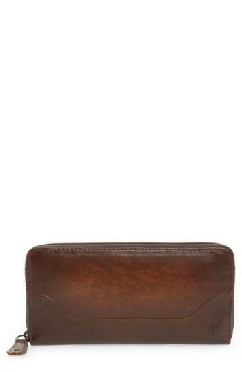 Women's Frye Melissa Leather Wallet - Brown