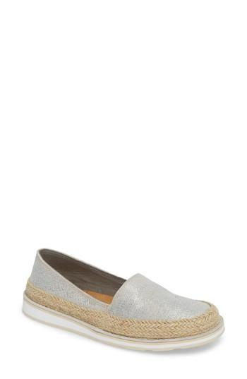 Women's Ariat Cruiser Espadrille Loafer .5 M - Metallic