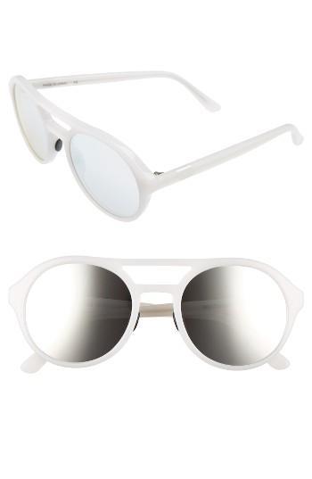 Women's Westward Leaning Olympus Mons 54mm Aviator Sunglasses - Marshmallow/ X3 Silver