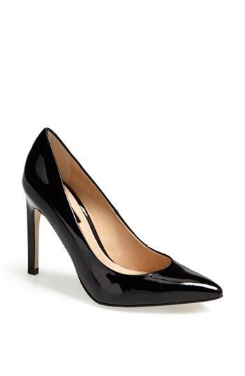 Topshop 'glimmer' Pointed Toe Pump Black