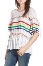 Women's Wildfox South Beach Stripe Sweater - White