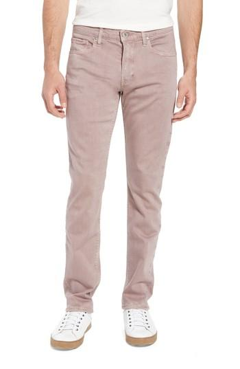 Men's Paige Federal Slim Straight Fit Jeans - Pink