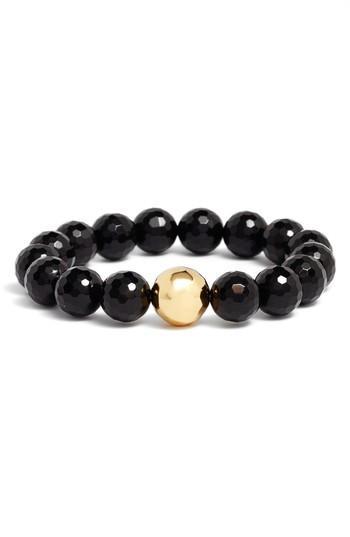 Women's Gorjana Power Gemstone Black Onyx Protection Bracelet