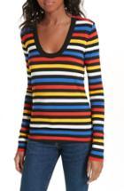 Women's Veronica Beard Falk Stripe Tee - Black