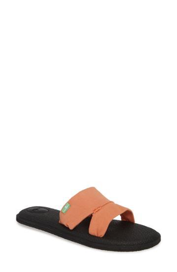 Women's Sanuk Yoga Mat Capri Slide Sandal M - Orange