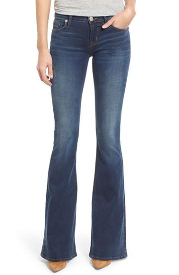 Women's Hudson Jeans 'mia' Flare Jeans - Blue (dauntless)