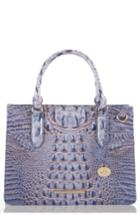 Brahmin Small Camille Embossed Leather Satchel - Blue
