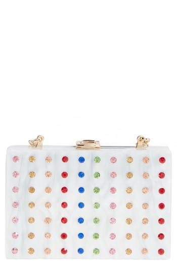 Milly Rhinestone Box Clutch -