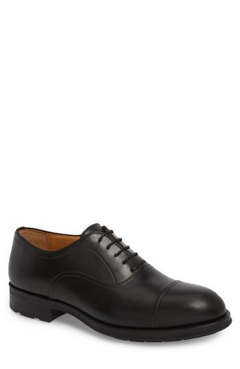 Men's Magnanni Tadeo Cap Toe Oxford .5 M - Black