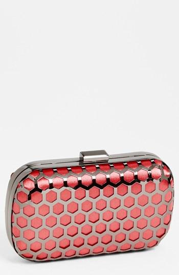 Expressions Nyc Hexagonal Box Clutch Pink/