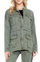 Women's Two By Vince Camuto Twill Cargo Jacket - Green