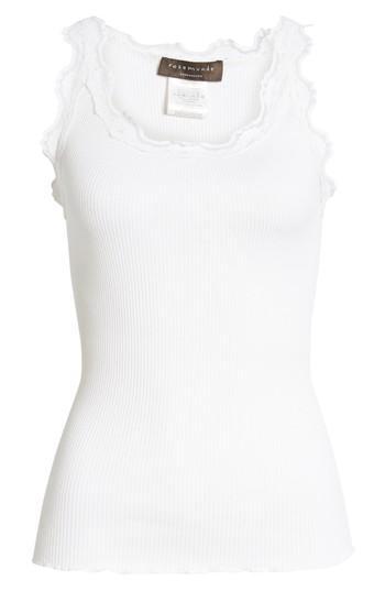 Women's Rosemunde Babette Lace Trim Tank - White