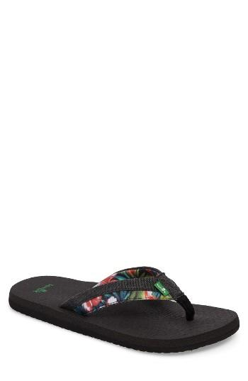 Men's Sanuk Beer Cozy Light Funk Flip Flop M - Black
