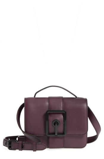 Rebecca Minkoff Small Hook Up Leather Top Handle Satchel - Red