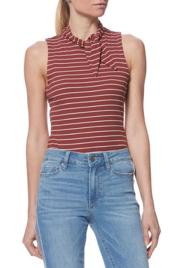 Women's Paige Sparrow Stripe Bodysuit - Orange
