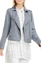 Women's Two By Vince Camuto Drapey Linen Moto Jacket - Grey