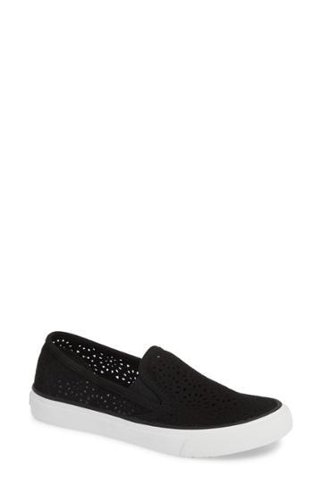 Women's Sperry Seaside Perforated Slip-on Sneaker .5 M - Black