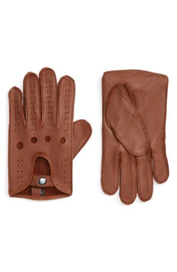 Men's Nordstrom Men's Shop Leather Driving Glove - Brown