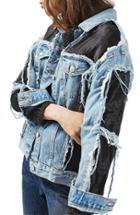 Women's Topshop Moto Organza Oversized Denim Jacket