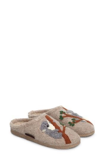 Women's Giesswein Koala Indoor Boiled Wool Slipper Eu - Beige