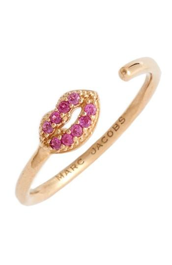 Women's Marc Jacobs Lips Open Stack Ring