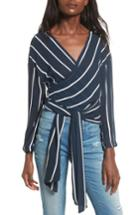 Women's Faithfull The Brand Belvedere Wrap Crop Top - Blue