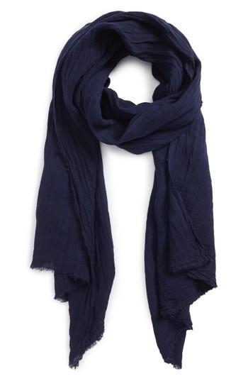 Women's Donni Charm Sunshine Linen Scarf, Size - Blue