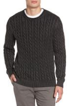 Men's Rodd & Gunn Landray Cable Knit Cotton Sweater, Size - Grey