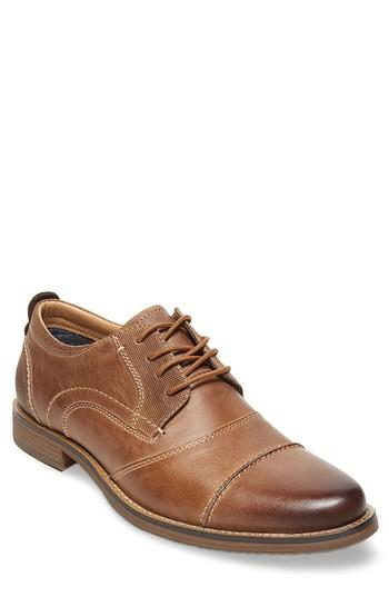 Men's Steve Madden Pinsen Cap Toe Derby M - Brown