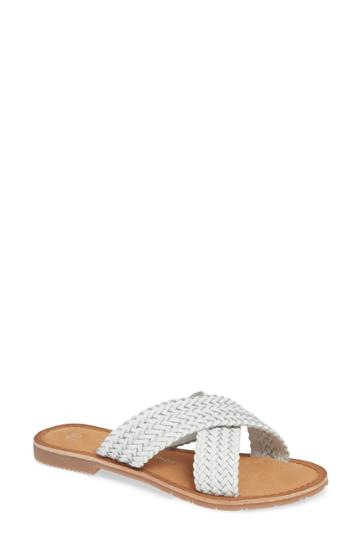 Women's Chinese Laundry Pure Woven Slide Sandal M - White