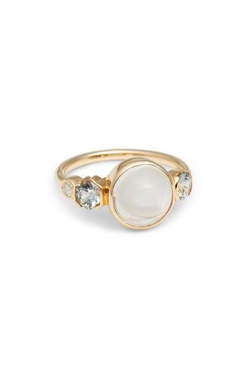 Women's Mociun Moonstone, Sapphire & Diamond Ring