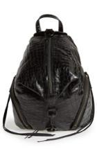 Rebecca Minkoff Medium Julian Croc Embossed Backpack -