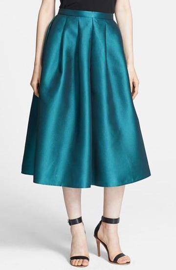 Tibi 'simona' Jacquard Full Midi Skirt