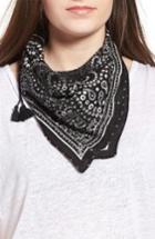 Women's Rebecca Minkoff Print Bandana, Size - Black