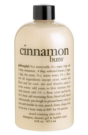 Philosophy 'cinnamon Buns' Shampoo, Shower Gel & Bubble Bath