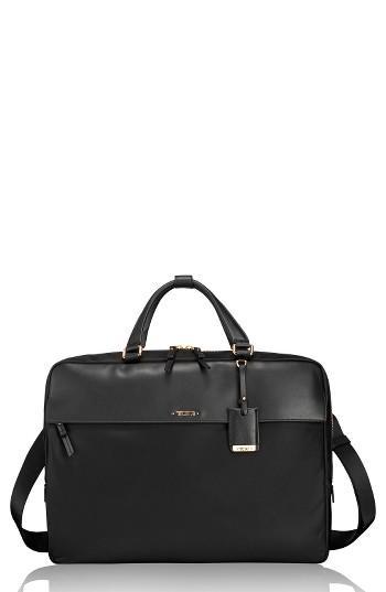 Tumi Westport Slim Nylon & Leather Briefcase - Black