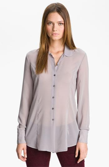 Theyskens' Theory 'bross Franky' Blouse Light Silver Small