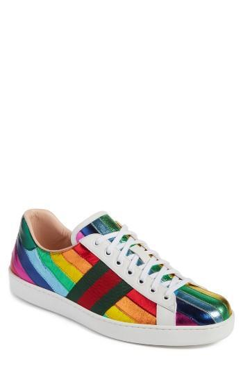 faa3cbb4896 Men s Gucci New Ace Rainbow Sneaker Us   5uk - White
