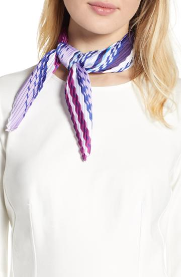 Women's Halogen Plisse Kite Scarf, Size - Purple