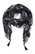 Women's Fuzzi Tassel Tulle Scarf, Size - Blue