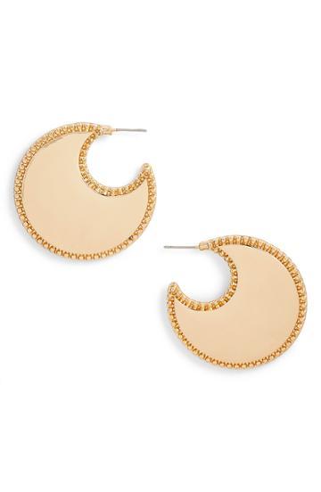 Women's Rebecca Minkoff Bead Edge Hoop Earrings