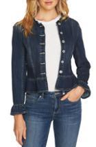 Women's Sandro Pumba Plaid Tweed Jacket Us / 36 Fr - Green
