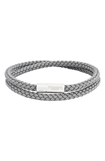 Men's Tateossian Rubber Cable Wrap Bracelet