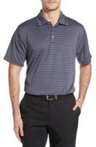 Men's Swc Heather Stripe Polo - Grey