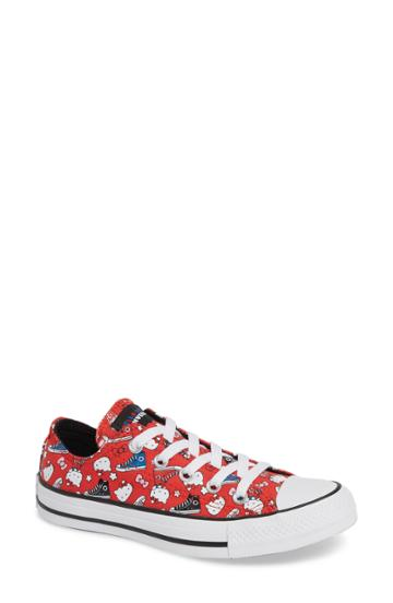 Women's Converse X Hello Kitty Chuck Taylor All Star Low Top Sneaker M - Red
