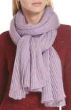 Women's Rag & Bone Donna Rib Knit Scarf, Size - Purple