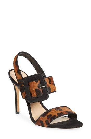 Women's Schutz Lucci Genuine Calf Hair Sandal M - Black