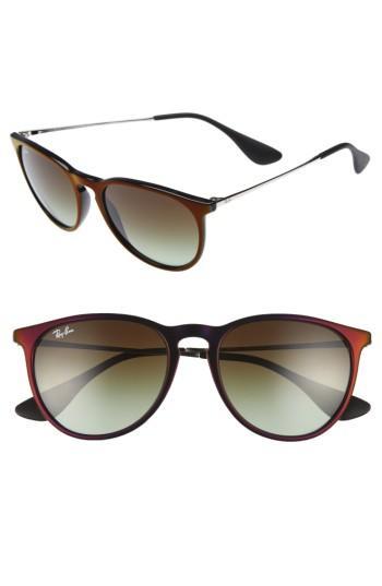 Women's Ray-ban Erika Classic 54mm Sunglasses - Black/ Red